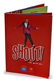 Event programme for the Shout! stage play - click to enlarge