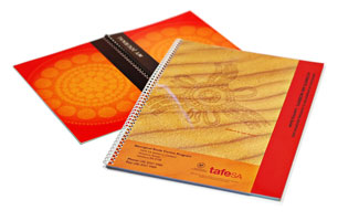 A4 or A5 sized spiral bound books - click to enlarge